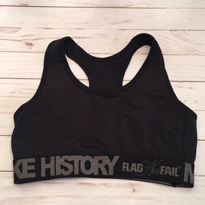 7dd72d7591 Flag nor Fail Making History Black Sports Bra Sz L
